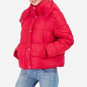 🌸New🌸 Sebby Hooded Puffer Jacket Red Size Large